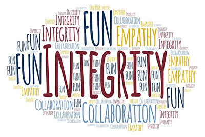 ITS Values: Integrity, Fun, Collaboration and Empathy