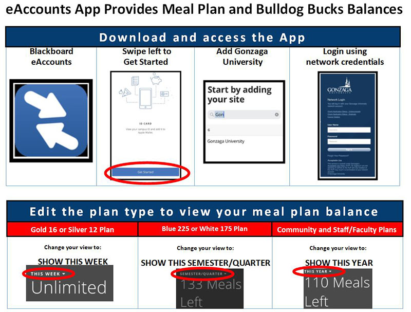 eAccounts App Provides Meal Plan and Bulldog Bucks Balances