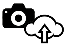 Camera and cloud icon