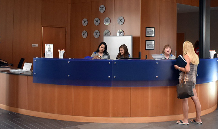 Welcome Desk at Hemmingson Center