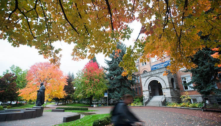 The Gonzaga campus in the fall.