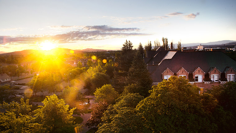 Sunrise over the Gonzaga Campus
