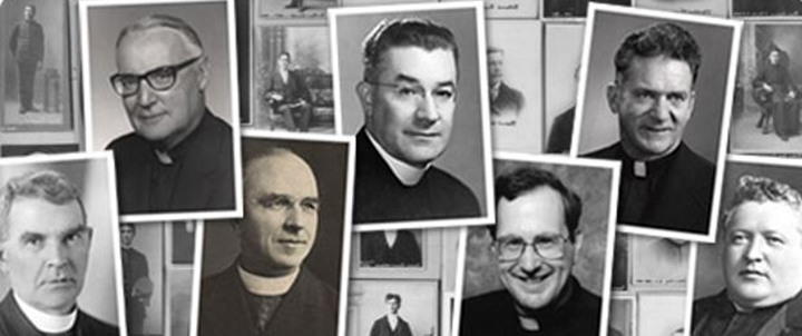 Montage of past Gonzaga Presidents