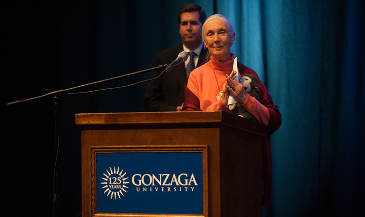 Jane Goodall and Thayne McCulloh
