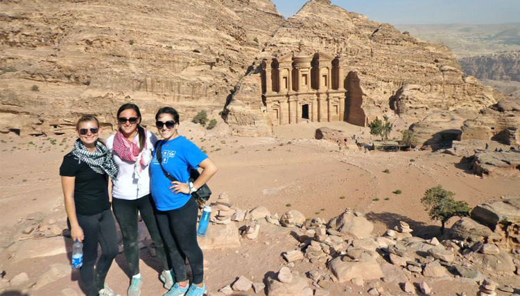 Study Abroad students visiting Petra