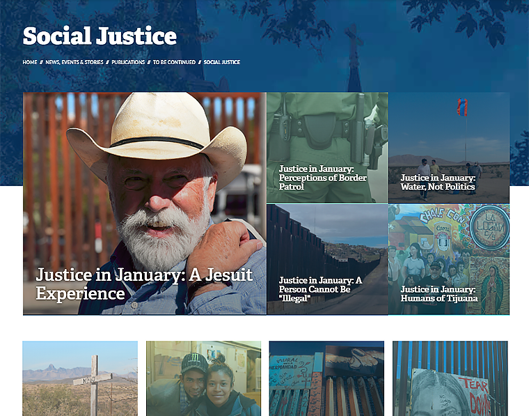 Decorative image of the Social Justice stories section of the Gonzaga website.