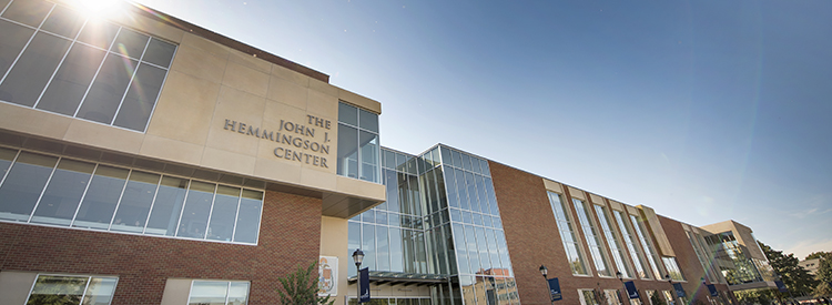 View of the outside of the John J. Hemmingson Center