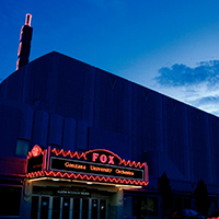 View of the marquee at the Martin Woldson Theater at the Fox