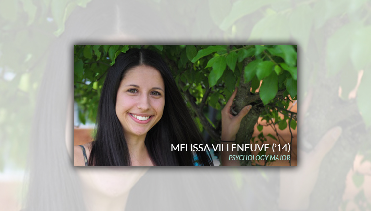 Portrait of Melissa Villenenve, Psychology Department Alumni