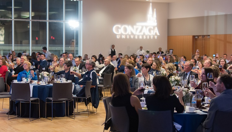 Gonzaga Alumni joined together as part of the 2016 Alumni Reunion Weekend for a dinner in the Hemmingson Ballroom