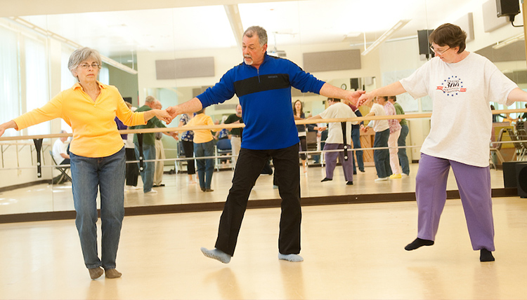 People dancing in Parkinson Dance class