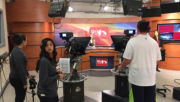 Gonzaga University Integrated Media Department GUTV Live on set