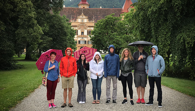Gonzaga German language students in Graz Austria.