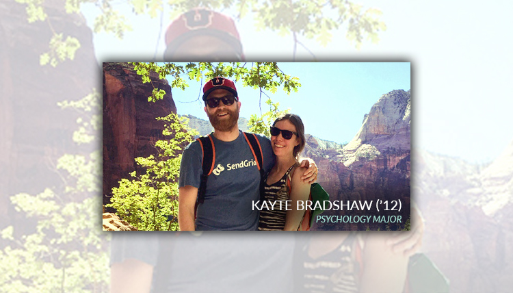 Portrait of Kayte Bradshaw, Psychology Department Alumni