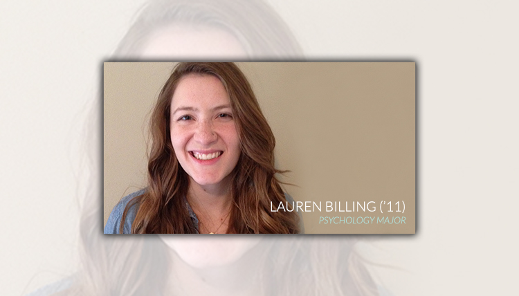 Portrait of Gonzaga Psychology Department 2011 graduate Lauren Billing