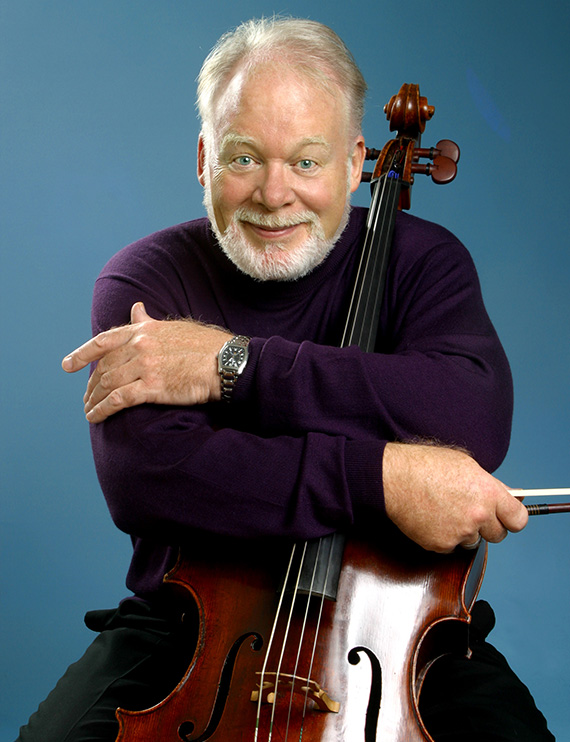 Portrait of Lynn Harrell, cello soloist