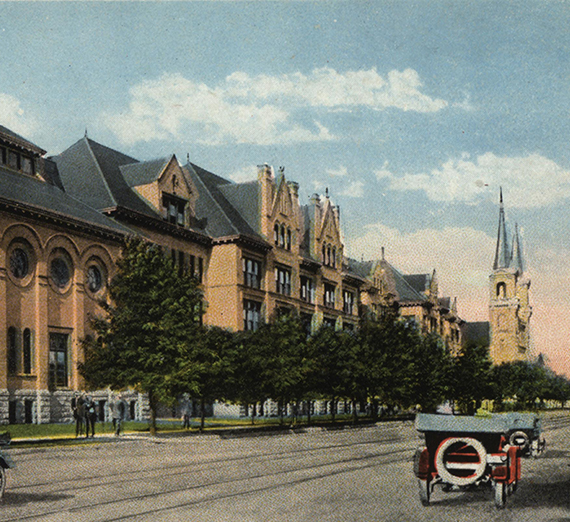 1920's postcard of Gonzaga College Hall and St. Als spires