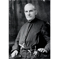 Black and white historic portrait of Father Joseph Cataldo.