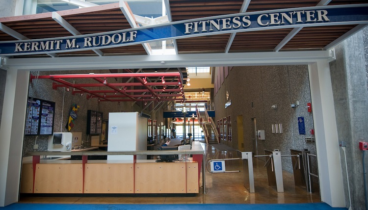 A view of the Rudolf Fitness Center
