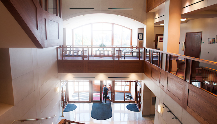 Second floor of Gonzaga Law School