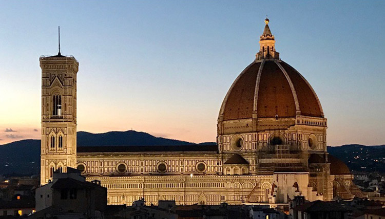 Dome in Florence Italy at dusk