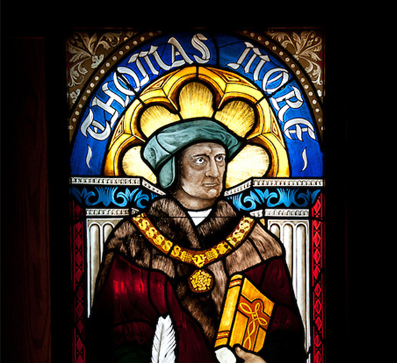 Thomas More stained glass
