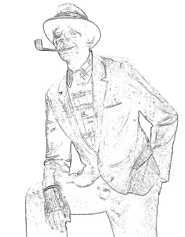 Bing Crosby Coloring Page