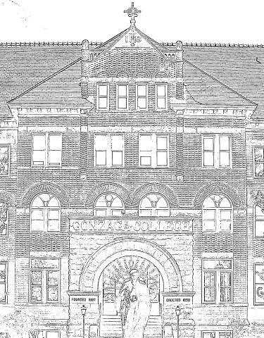 College Hall Coloring Page