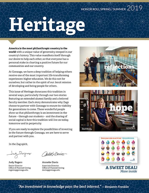 Heritage Newsletter | Gonzaga University