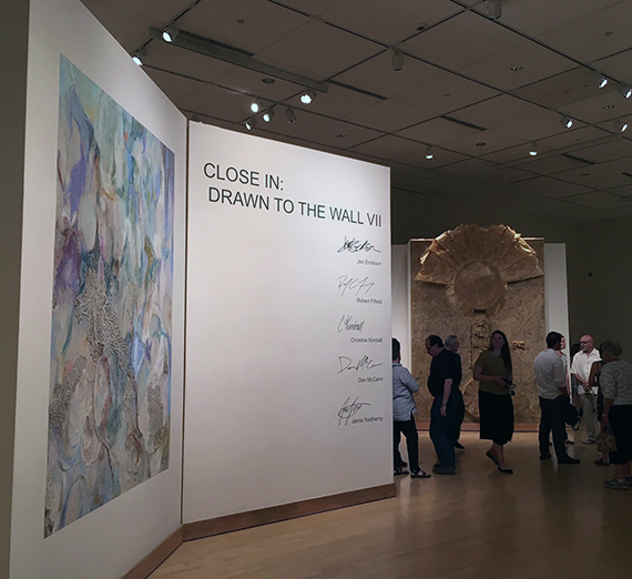View of entry to Drawn to the Wall VII exhibit.