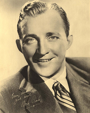 Bing Crosby signed portrait that reads, 'Every sincere good wish, Bing Crosby'