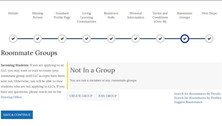 Roommate Groups | Gonzaga University