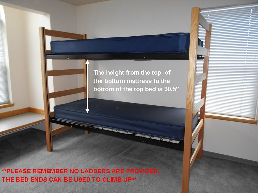 bunked beds