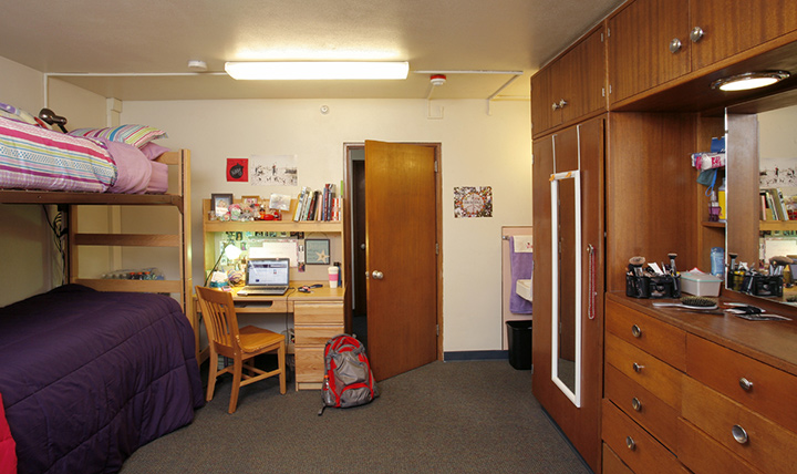Marian Hall bedroom with bunk beds