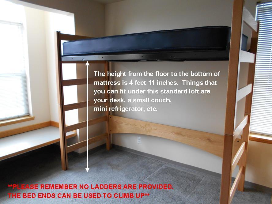 Loft Kits Bunked Amp Raised Beds Gonzaga University