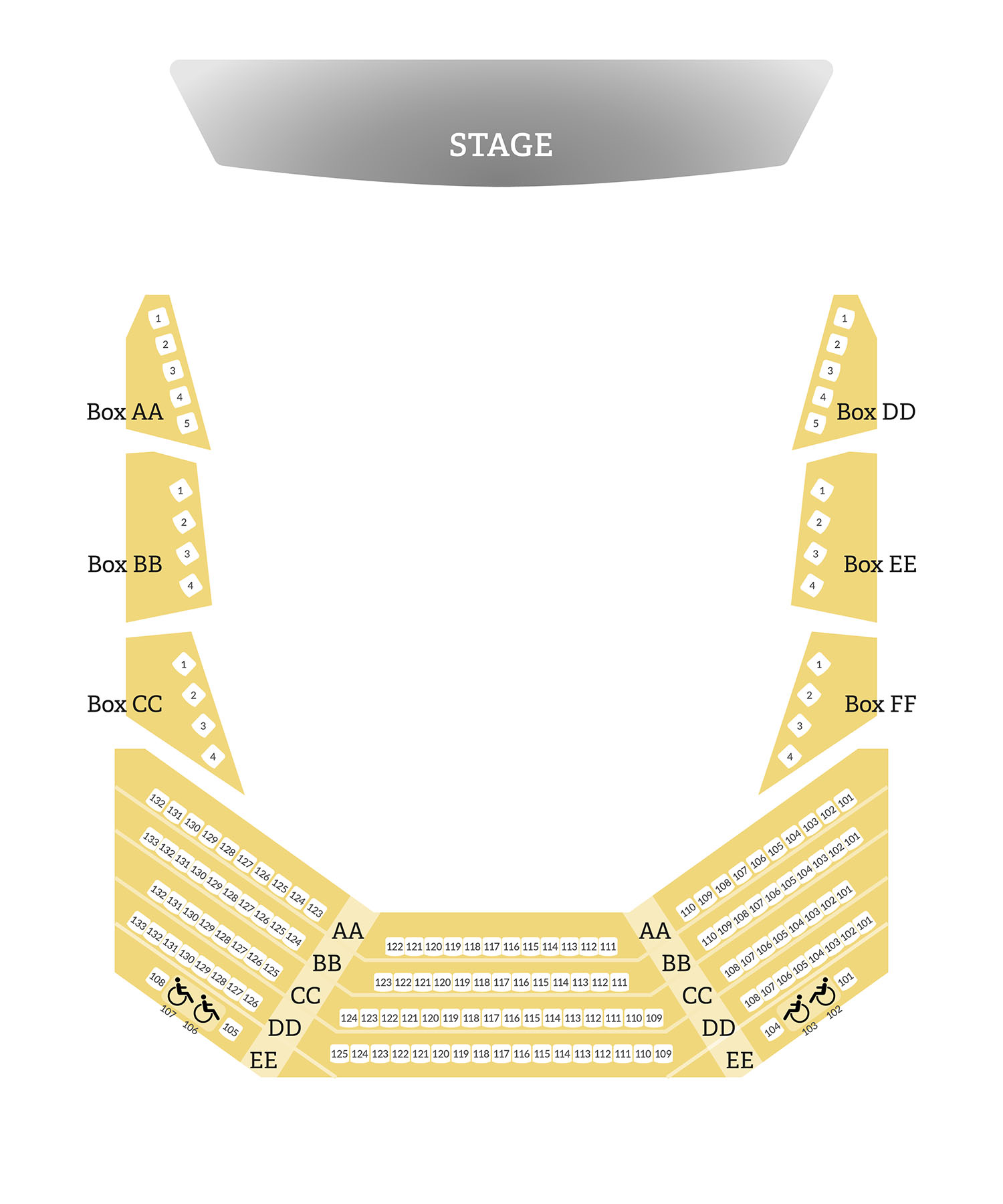 seatmap - Mainstage Theater Balcony