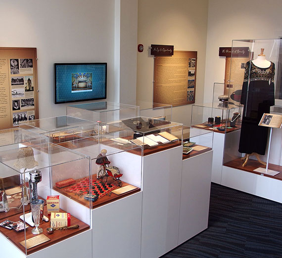interpretive center displays in Myrtle Woldson Collection