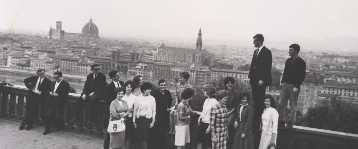 Historical photo of students in Florence.