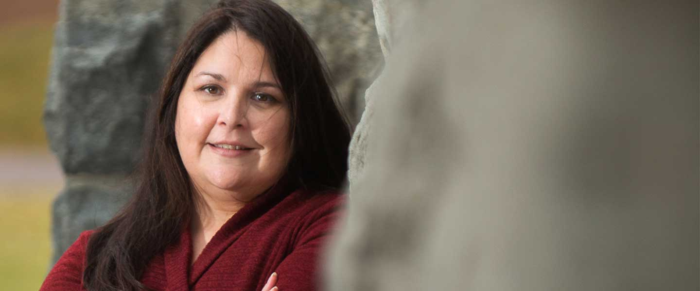 Laurie Arnold, associate professor of history, leads Gonzaga's Native American studies program.