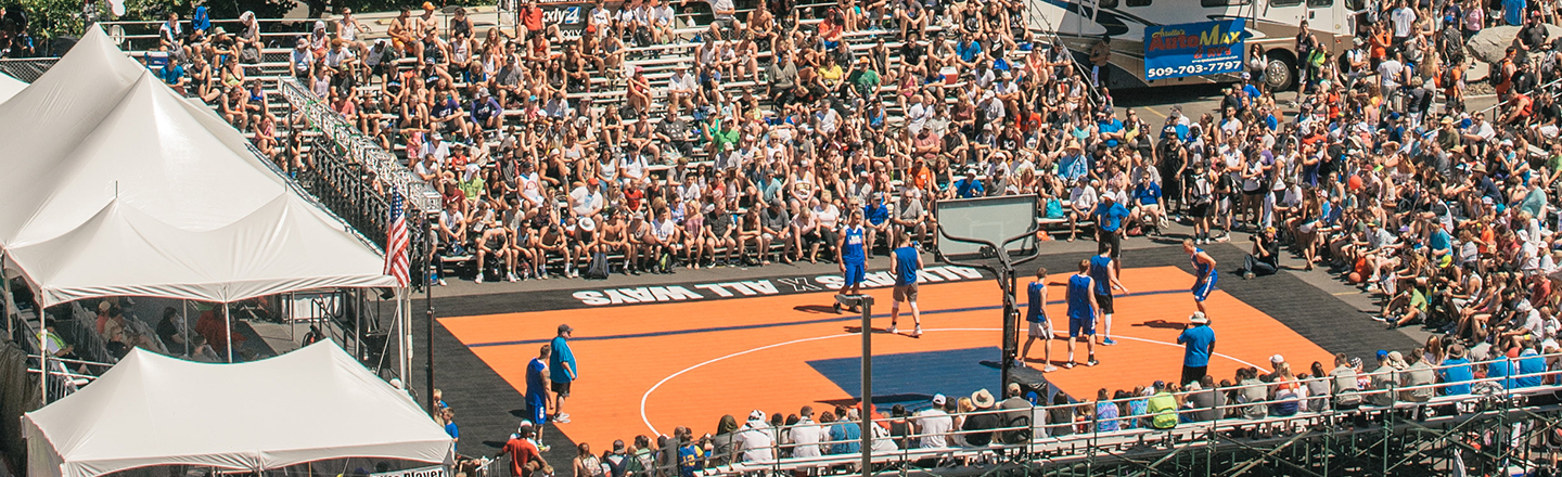 Hoopfest basketball court photo by Erick Doxey