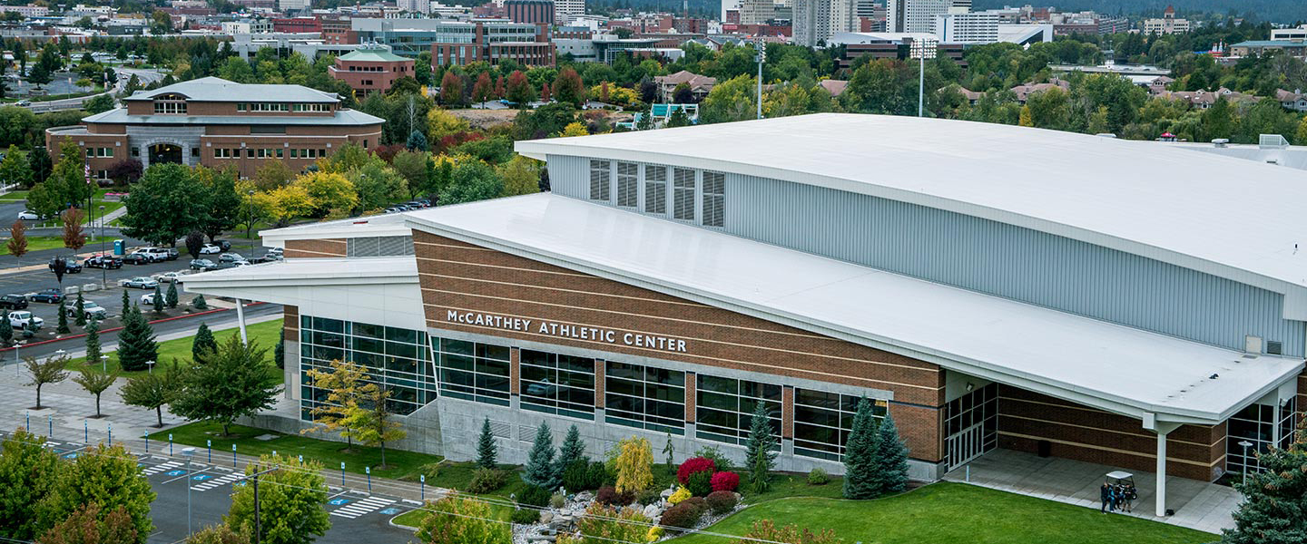 Aerial photo of the McCarthey Athletic Center