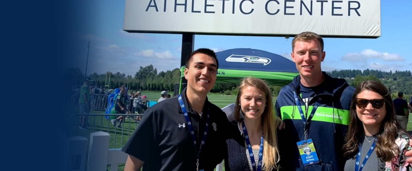 Students during Seahawks Internship