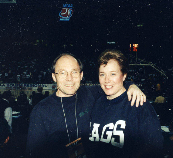 Dale and Mary Goodwin in 2001 at NCAA