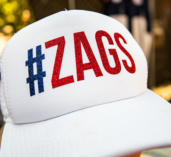 hat with #Zags