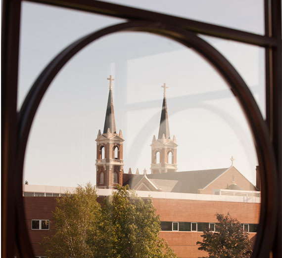 st.als church through a window