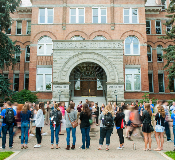 Welcome walk for Gonzaga students