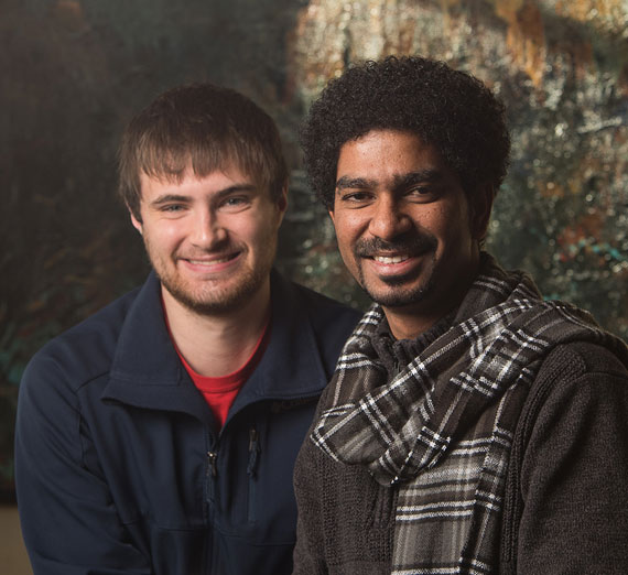 Gonzaga students Manojprabhakaran (Manoj) Thirupal and Aaron Danowski