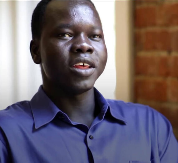 Former Gonzaga University student and Sudanese refugee  Jok Nhial