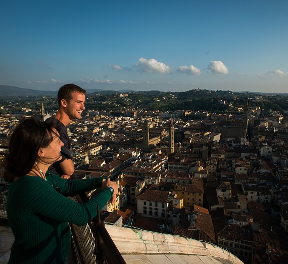 Students enjoy their last weeks in Florence, Italy at the end of the school year studying abroad.