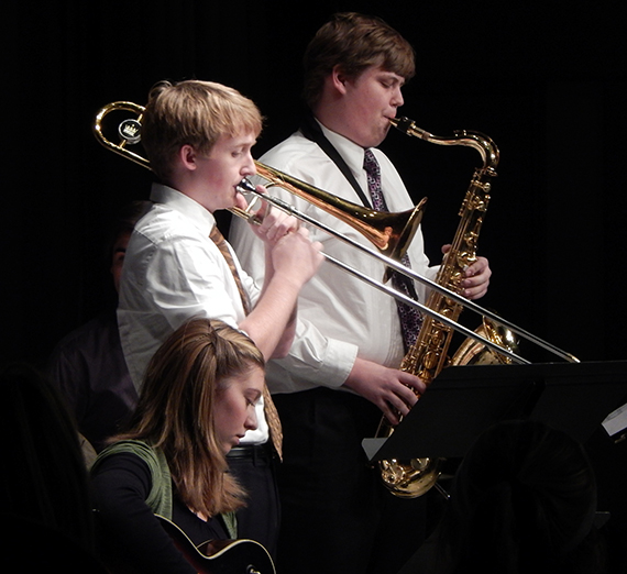 Members of GU's Jazz Combos perform in the Jazz Combos Concert in 2013
